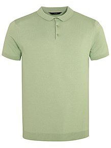 d16cd75851a Pale Green Short Sleeve Knitted Polo Shirt