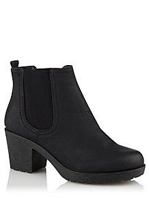 0b6cb933d89 Krush Black Faux Leather Chelsea Boots