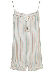 94951a568135 Striped Shimmering Short Pyjamas