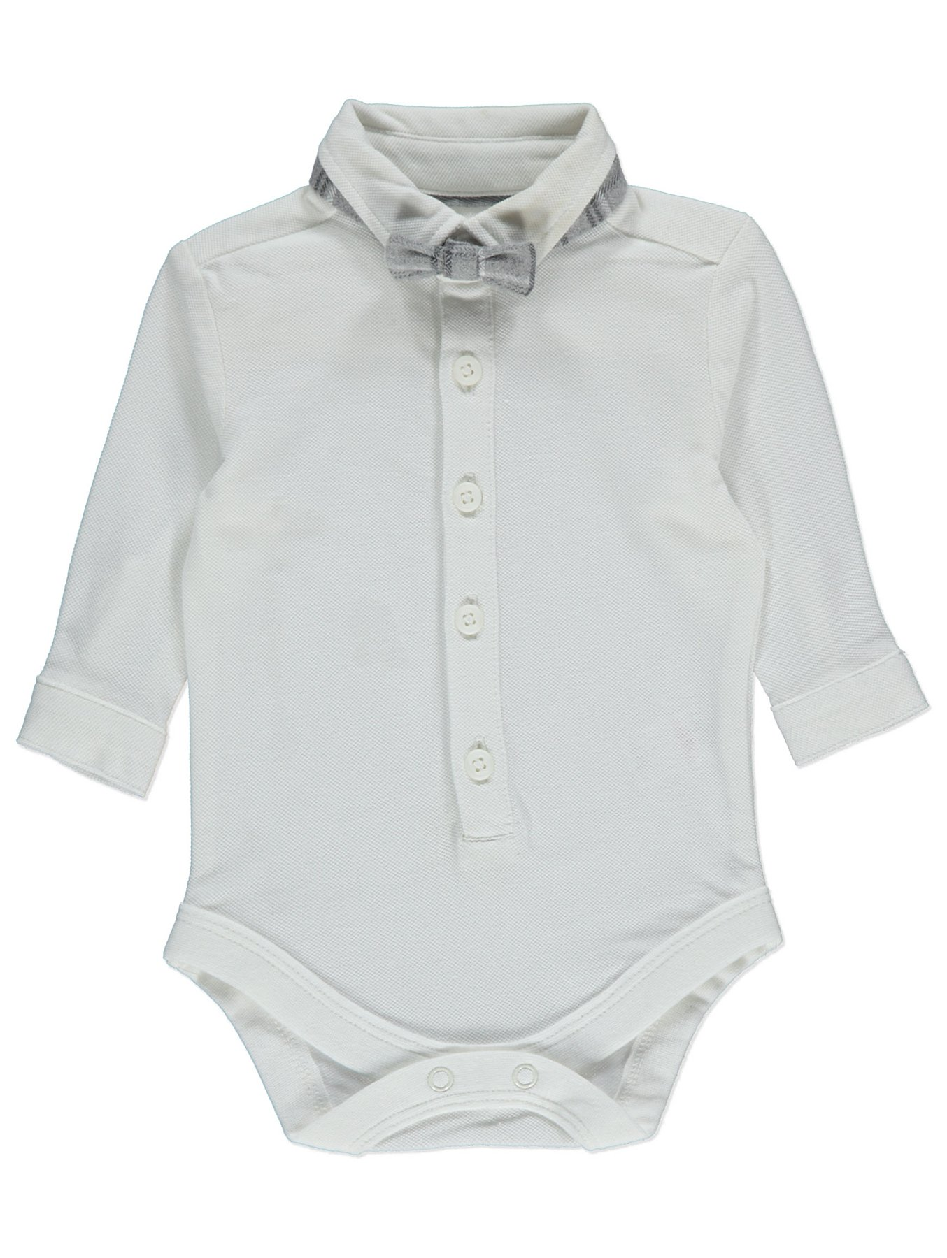 05d704e13 Grey Check Dungarees Bow Tie and Polo Bodysuit | Baby | George