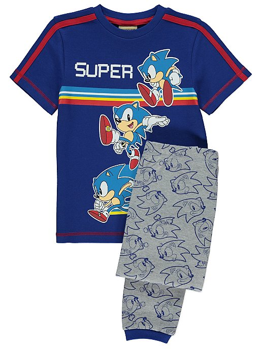 Sonic The Hedgehog Grey Short Sleeve Pyjamas Kids George At Asda
