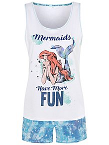 daa73360ff85 Disney The Little Mermaid Short Pyjamas