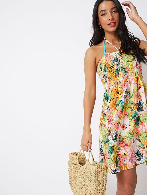 3873bcac6b Neon Floral Bandeau Cover Up Dress | Women | George