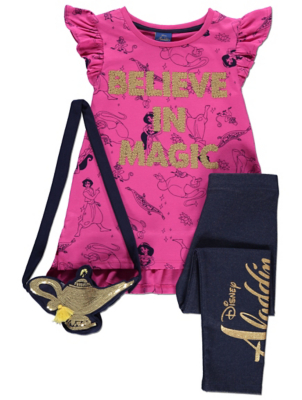 Disney Aladdin Top Jeggings and Bag Outfit