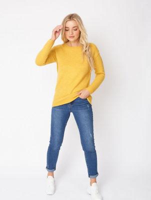 Mustard Crew Neck Jumper