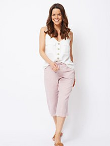 clear-cut texture buy sale large assortment Womens Cropped Trousers | Trousers | George at ASDA