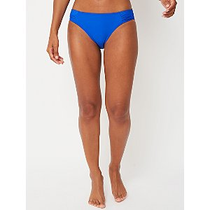 Cobalt Blue Pleated High Leg Bikini Bottoms