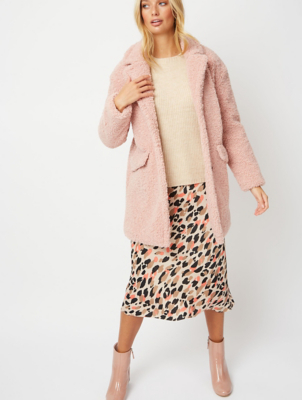 Pale Pink Teddy Bear Coat