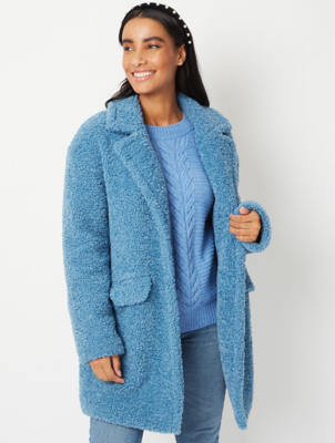 Blue Borg Teddy Coat