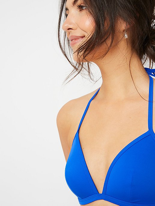 b219412d09 Cobalt Blue Triangle Bikini Top   Women   George