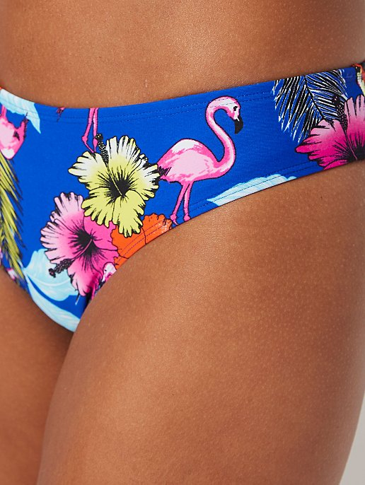 ad71834d89 Blue Flamingo Floral High leg Bikini Bottoms | Women | George