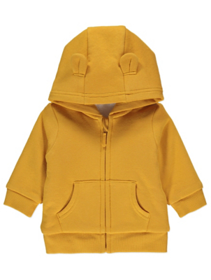 Yellow Borg Lined Hoodie