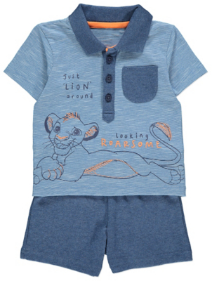 Disney The Lion King Simba Polo Shirt and Shorts