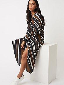 Striped Asymmetric Midi Dress d4c99bde8