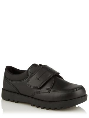 Boys Black Strap School Shoes