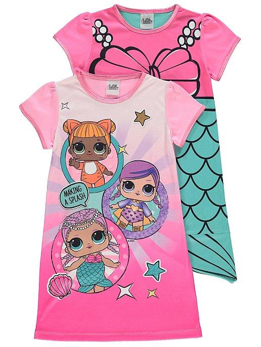 6fc5db089239 L.O.L. Surprise Nightdresses Pink 2 Pack   Kids   George