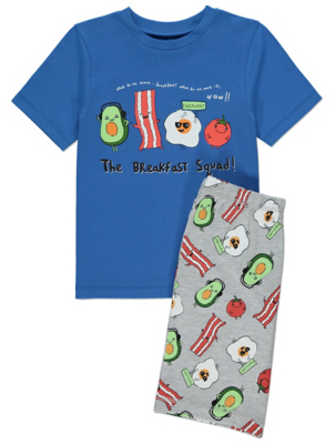 Blue Breakfast Squad Short Pyjamas