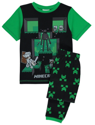 Minecraft Green Raglan Pyjamas