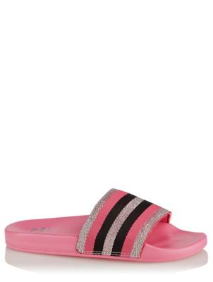 Pink Stripe Pool Sliders