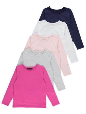 Long Sleeve Jersey Tops 5 Pack
