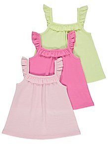 Girls' Clothing (0-24 Months) Bundle Of 3 Baby Girl 3-6 Mths 1 X Orange Dress 2 X Cream Tops new