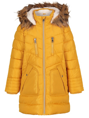 Yellow Shower Resistant Hooded Longline Parka