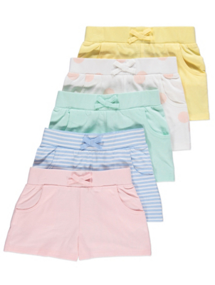 Pastel Jersey Shorts 5 Pack