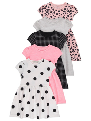 Assorted Skater Dresses 5 Pack
