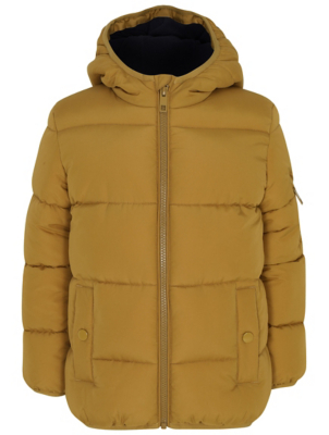Tan Hooded Padded Coat