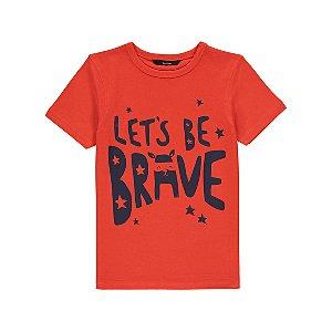 Orange Brave Slogan T-Shirt
