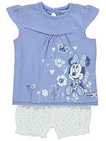 e87156f8be Disney Minnie Mouse Floral Top and Shorts Outfit