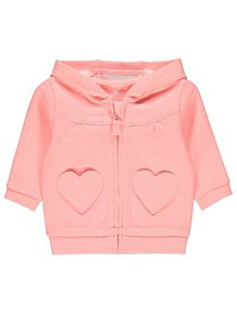 Clothing, Shoes & Accessories Sweaters Baby Girls Next Soft Fleece Hooded Jumper Top Hoody Hoody Pink Mouse 9-12