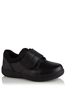 f9fa2c3b96 Boys Black Strap School Shoes