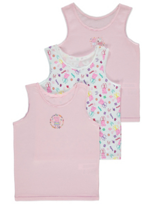 Pink Peppa Pig Vests 3 Pack