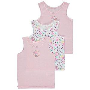 Pink Peppa Pig Vests 3 Pack