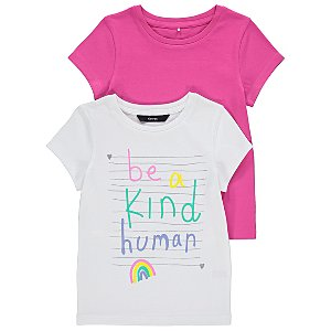 Kindness Printed Short Sleeve T-Shirts 2 Pack