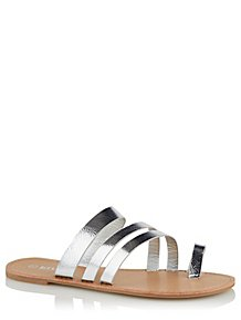 77430fb2337430 Krush Silver Strappy Toe Ring Sandals