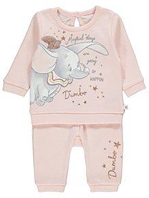7cd18b66b507 Disney Dumbo Pink Sweatshirt and Joggers Outfit