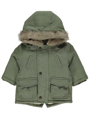 Khaki Green Hooded Parka