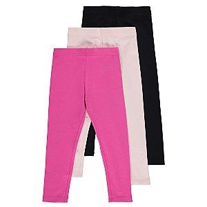 Pink Assorted Leggings 3 Pack