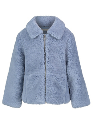 Blue Borg Fleece Coat
