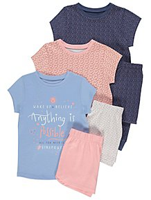 5b4b98476509 Anything is Possible Pastel Pyjamas 3 Pack