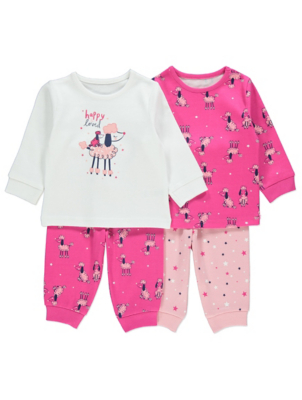 Pink Poodle Pyjamas 2 Pack