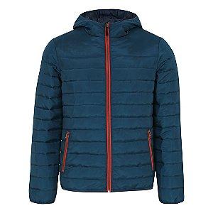 Teal Shower Resistant Lightweight Padded Coat