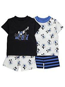 2a6c56f74c Disney Mickey Mouse Short Pyjamas 2 Pack