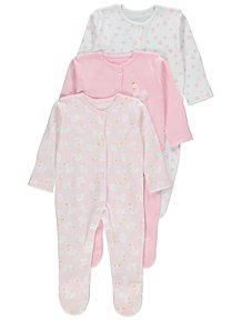 Girls' Clothing (newborn-5t) Hearty 9 Girls 0-3 Sleepsuits