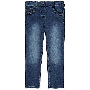 Mid Wash Frill Pocket Denim Jeans
