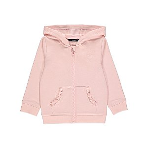 Pink Frill Zip Up Hoodie