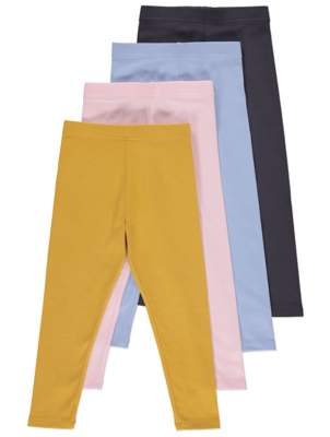 Assorted Jersey Leggings 4 Pack