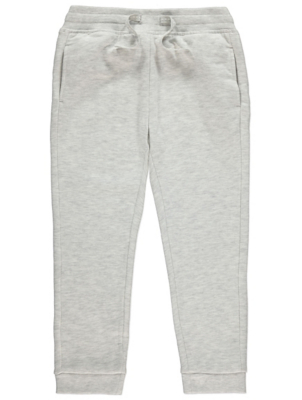 Pale Grey Marl Joggers